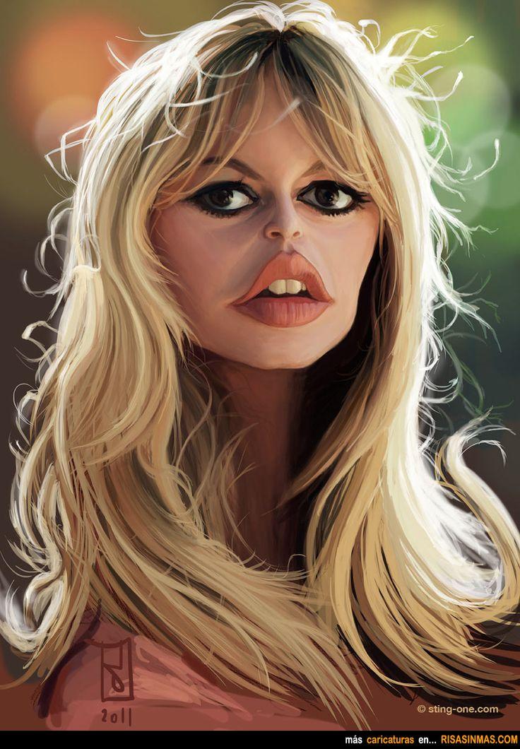 Caricatura de Brigitte Bardot.
