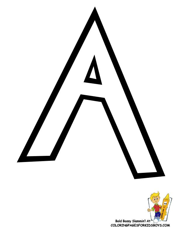 You Can Print Out This #Pokemon #Alphabet #Coloring_Page Now... http://www.yescoloring.com/images/Preschool_Alphabet_Coloring_Pages_A_coloringkidsboyscom.gif