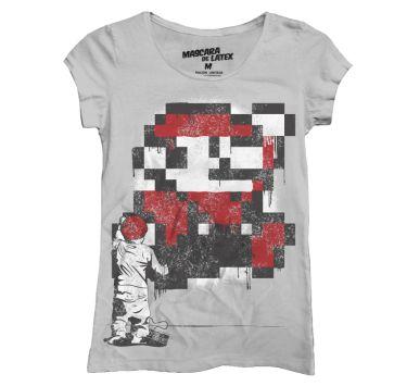 Disponible Nuevo Modelo en Catálogo: Mario Stencil   MascaraDeLatex.ES #Camisetas #MdL #MarioBros #Gamer #StreetArt