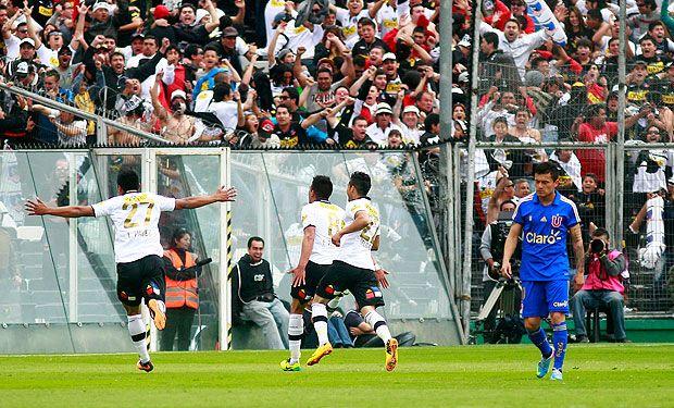 Colo Colo y la U, los dos equipos grandes.... Colo Colo festejó en el Monumental en el último Superclásico jugado en Pedrero.