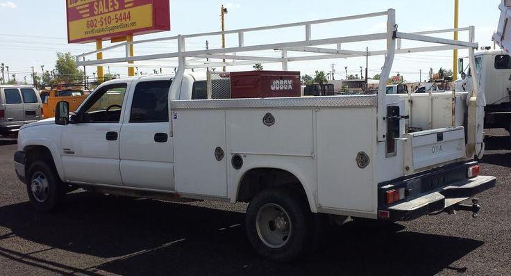 2007 GMC Crew Cab Utility Truck - - 80k One Owner Miles, Duramax Diesel, Auto, AC, Crew Cab, Power Windows/Locks/Dr Seat, Factory CD, Royal Utility Body ... Rust Free - - - ONLY $29,900 -- HD TRUCKS & EQUIP LLC - - - (602) 510-5444 --- www.HDTrucksAndEquiopmentSales.com