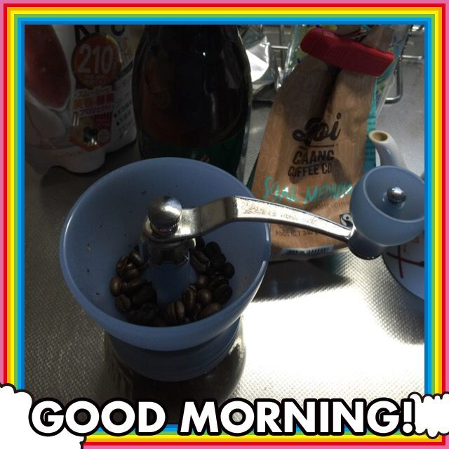 Manual grinding fresh coffee beans is a pain on my neck but the effort worth it as the aroma and taste make difference; enhancing good ambiance in the morning coffee. Good morning coffee lovers!
