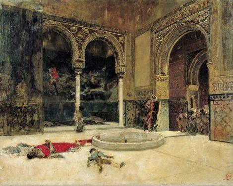 Mariano Fortuny Marsal, The Slaying of the Abencerrajes. Around 1870 on ArtStack #mariano-fortuny-marsal #art