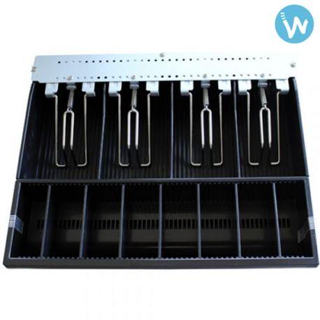 Trouvez le bac à monnaie pour le tiroir caisse Metapace K2 sur la boutique www.waapos.com dédiée à l'encaissement, au TPV tactile et à la caisse enregistreuse