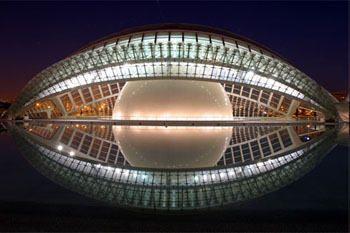 The Hemisferic, City of Arts and Sciences - Valencia, Spain // Architect: Santiago Calatrava  1998