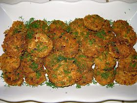 Paleo Crab Cakes.  These guys needed some serious help in the flavor department, but it's a good starting point.