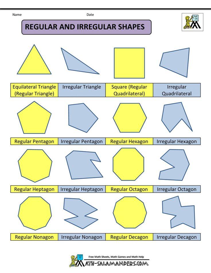 polygon shapes regular and irregular shapes col math busters pinterest math regular. Black Bedroom Furniture Sets. Home Design Ideas