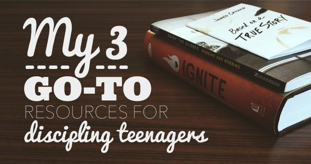 There are 3 discipleship tools I recommend over and over: Based on a True Story by James Choung. Ignite: The Bible For Teens. Enjoy the Silence, by Maggie & Duffy Robbins.