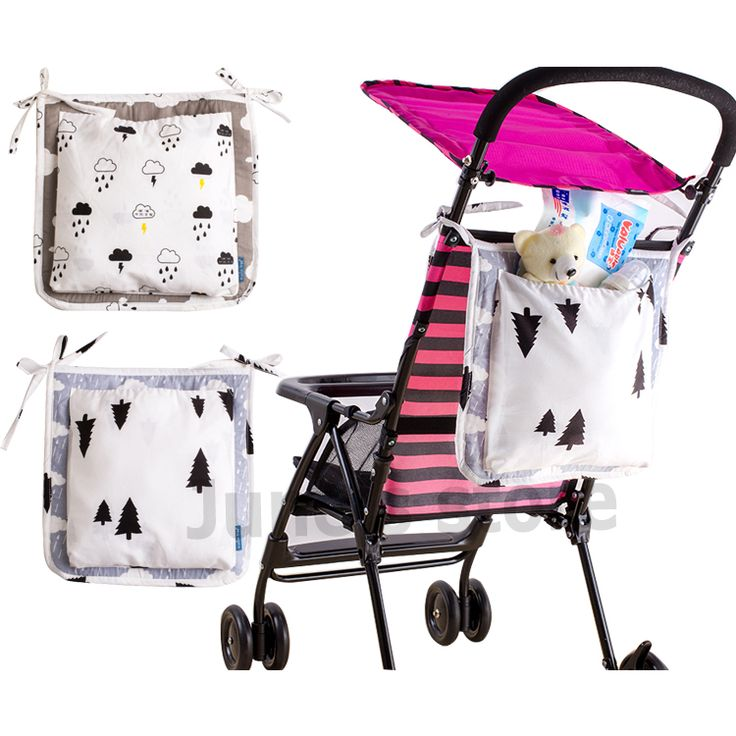 Cotton Baby Stroller Storage Bag Baby Bed Pouch organizer Diaper Bag baby bed hanging Portable Multifunction Storage Bag