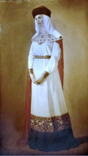 Russian costume in painting. Evgeny A.  Demakov. Russian Princess. 1993.