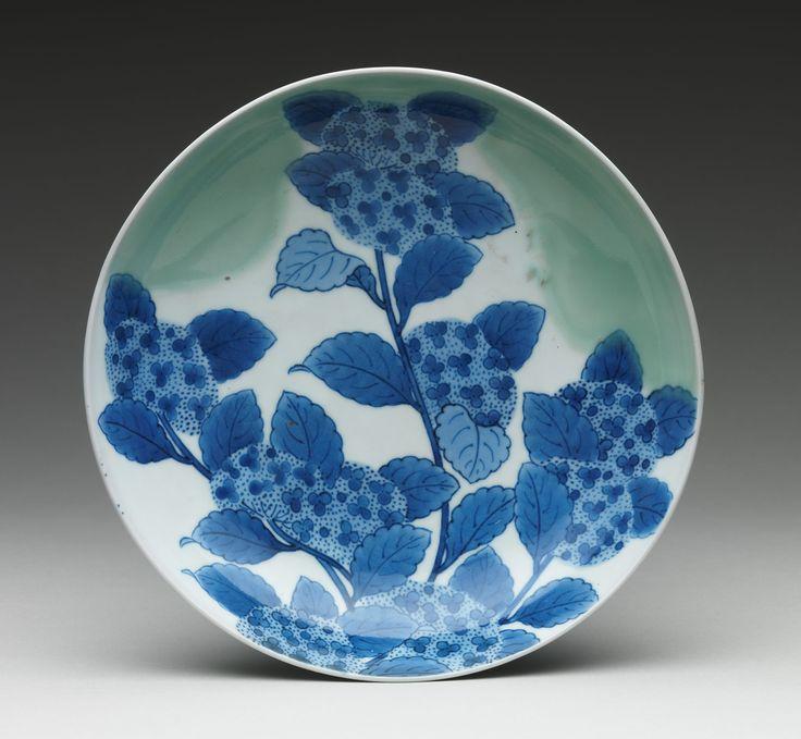 35 best art survey japan images on pinterest metropolitan museum dish with hydrangeas fandeluxe Gallery