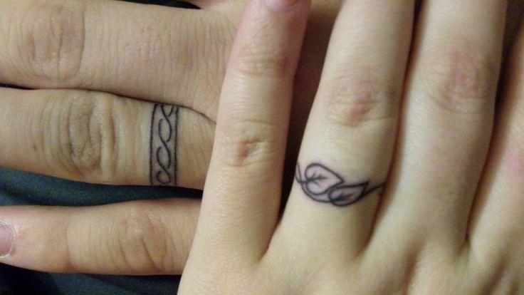 Colored Wedding Ring Tattoos: Les 35 Meilleures Images Du Tableau Alliances Tatoués Sur