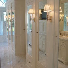 Great Storage Soution (minus Sconces  Too Old Fashioned For Me!) Traditional
