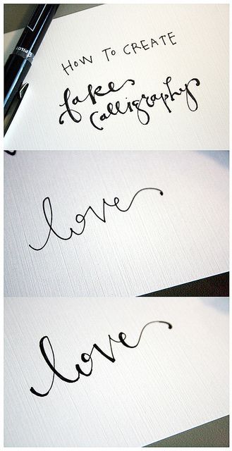 Calligraphy by finestationery, via Flickr