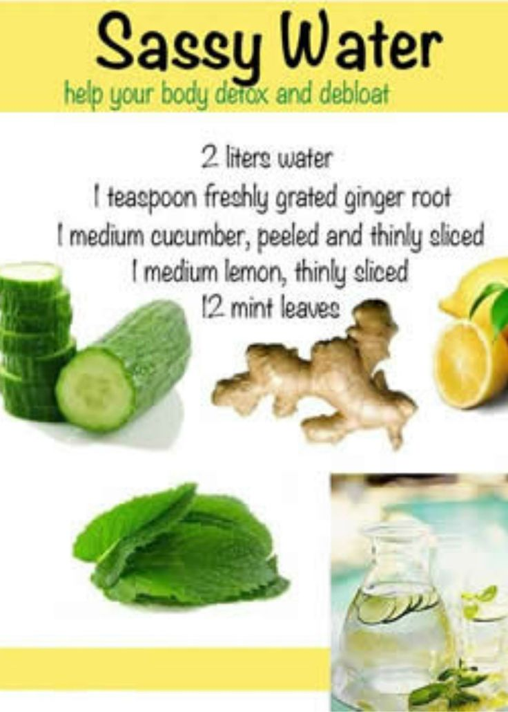detox and debloat with water recipe