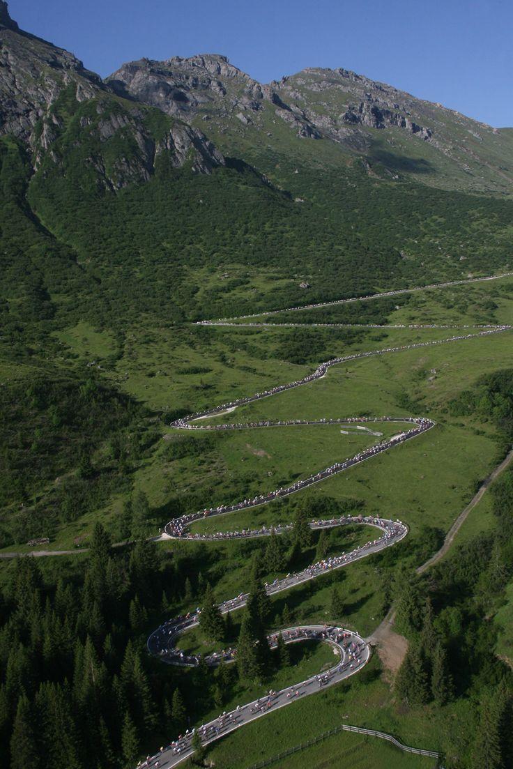 Pordoi Pass in Italian Dolomites