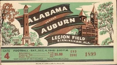 Alabama - Auburn Iron Bowl PROGRAM 1948. 1st Iron Bowl game since 1907 | Alabama 55 Auburn 0 | #Alabama #RollTide #BuiltByBama #Bama #BamaNation #CrimsonTide #RTR #Tide #RammerJammer #IronBowl