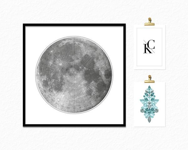 //SIMPLE MONOGRAMS + MOON POSTERS on Behance