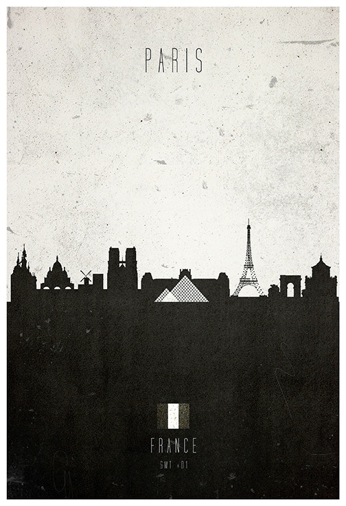 Paris architecture cityscape poster Calm The Ham | Calm The Ham