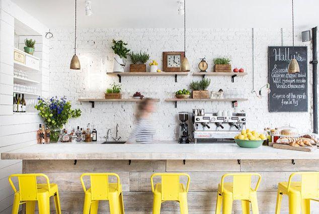 Halley's Cafe by Alexander Waterworth Interiors