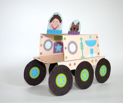 This amazing moon buggy is part of our Space Press Out and Make book - only £4.99 and perfect for 4+ kids who are out of this world!!!