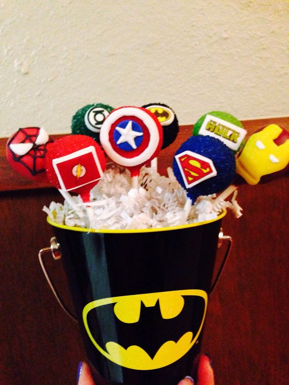 Superhero Cake Pops on Etsy, $35.00
