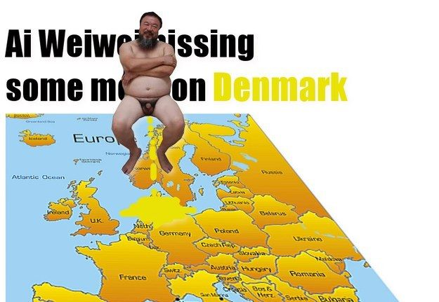 Nudist Ai Weiwei pisses on Denmark (some more!) | Community Post: After 'LEGO Politics', Ai Weiwei Punishes Little Denmark Again