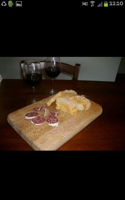 Pane e salame toscano