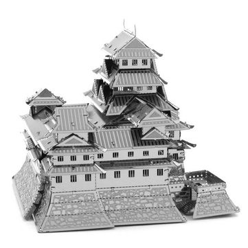 Aipin DIY 3D Puzzle Stainless Steel Model Kit Himeji Castle Silver Color Sale - Banggood.com