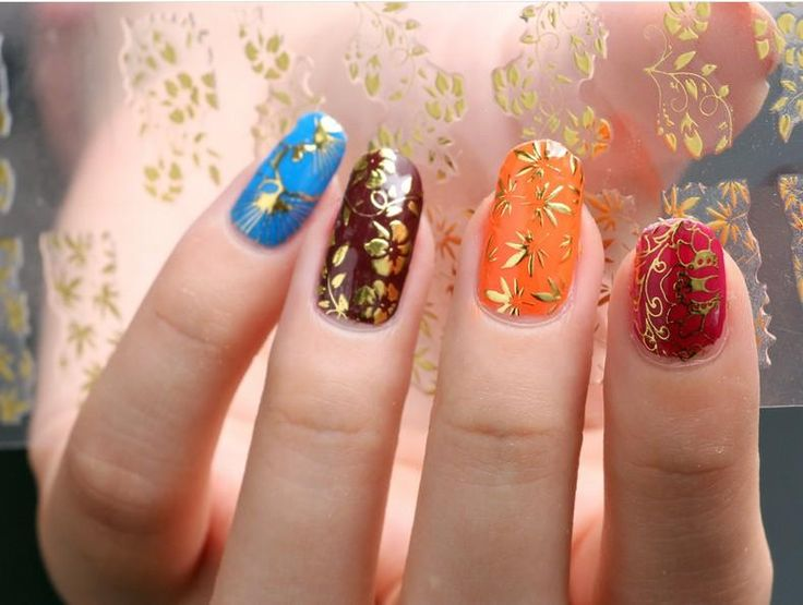Image result for Decorated nails 2018: nail art with applique, stickers