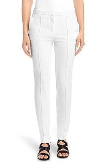 'Avina' | Stretch Cotton Blend Dress Pants, Natural. '