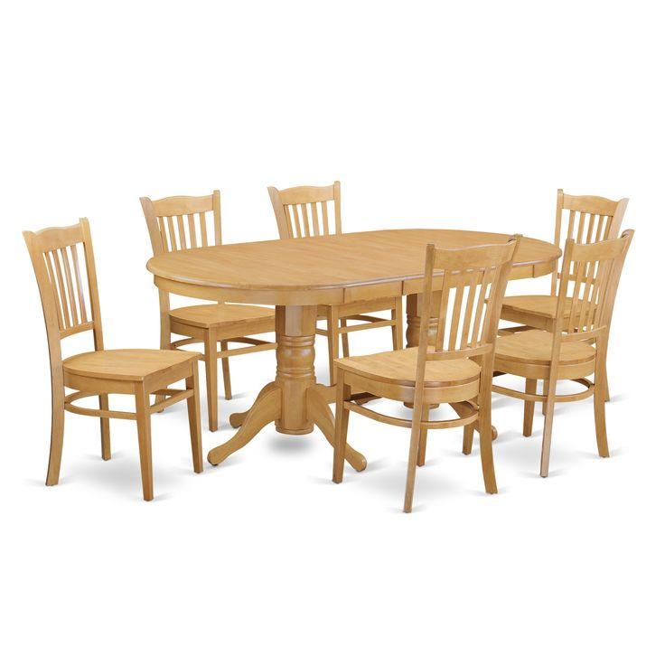 Vagr-OAK-W Small Kitchen Table Set