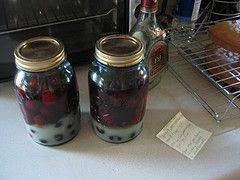 Greg made this with Blueberries, it was amaze balls! Cherry Bounce Recipe