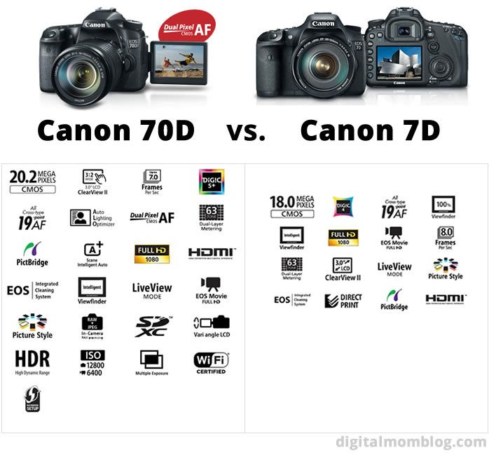 In the market for a mid-level DSLR? Check out this comparison review of the Canon 70d vs Canon 7d