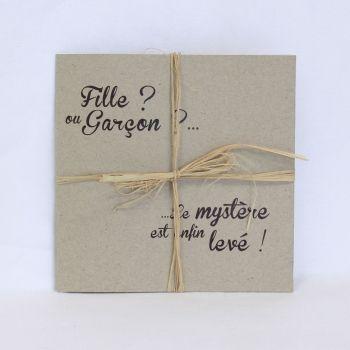 """Faire+part+naissance+""""Cadeau+surprise""""+FN33-GRA-9"""