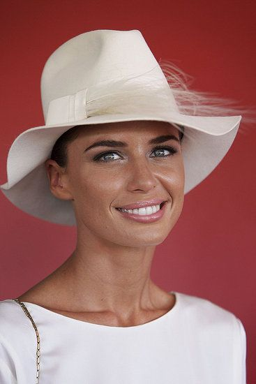 Jodi Gordon looking classic at the AJC Derby Day in April.  Melbourne Cup inspiration.
