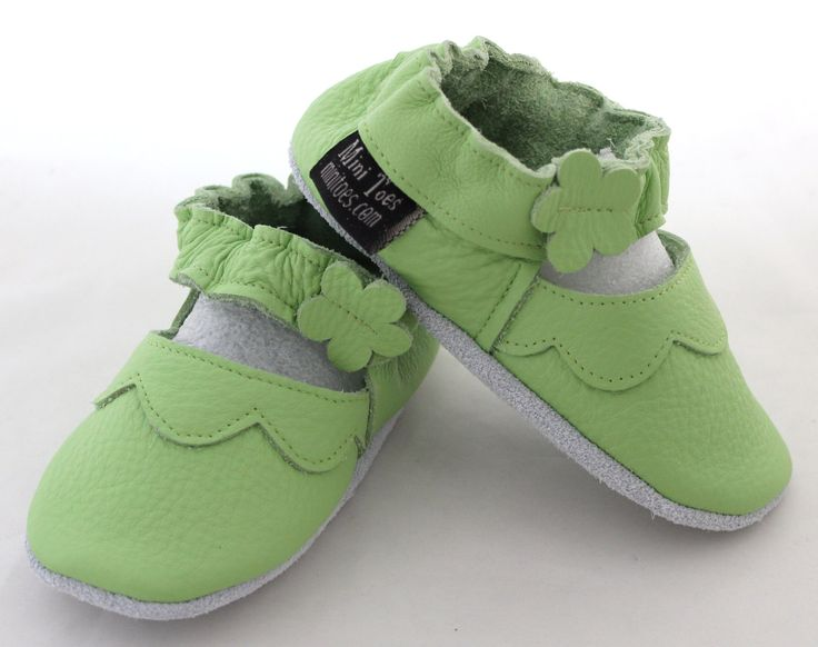 Hand Made Soft sole leather BABY Shoes Green Mary by minitoes, $24.00