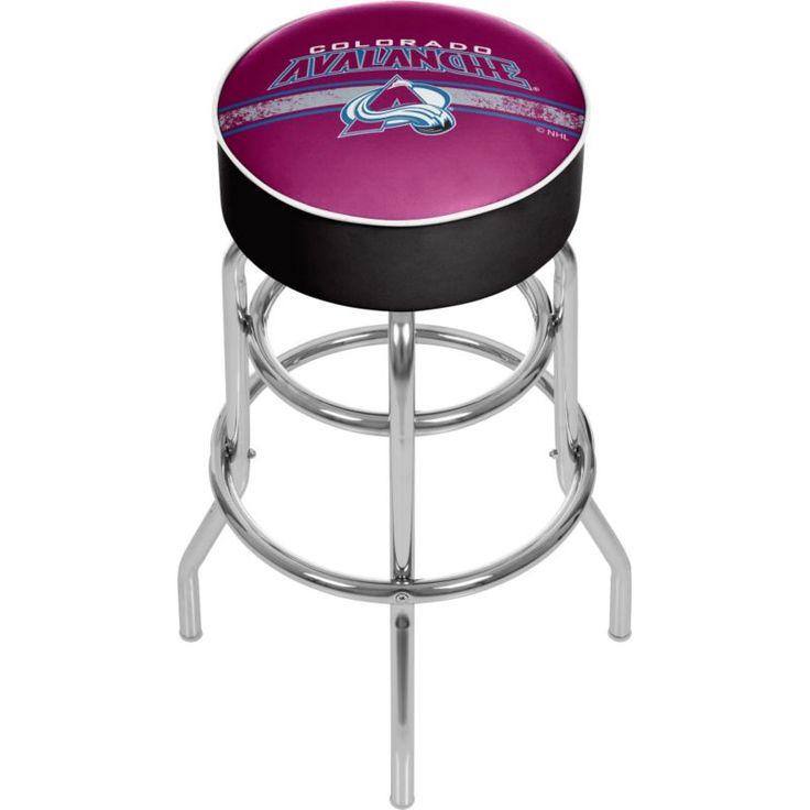 Trademark Games Colorado Avalanche Padded Bar Stool, Team