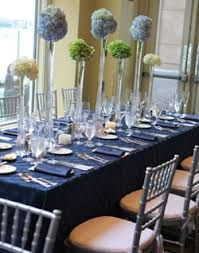Beautiful Navy Table Setting   Google Search