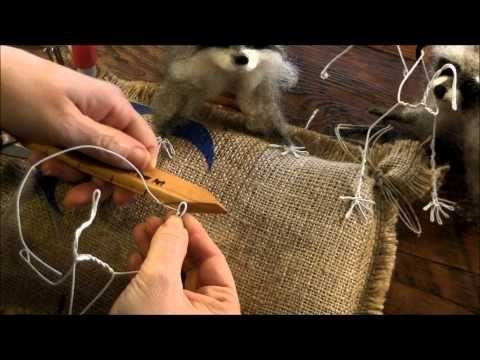 How To Needle Felt Animals: Raccoon 1 by Sarafina Fiber Art - YouTube