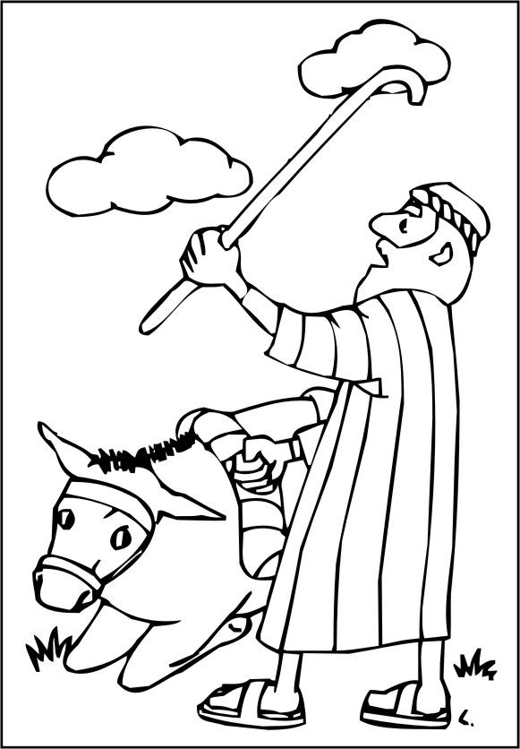 coloring pages balaams donkey - photo#6