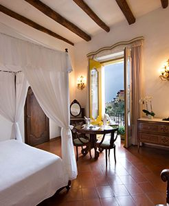 Deluxe Room in the historical section full sea view at Palazzo Murat Positano