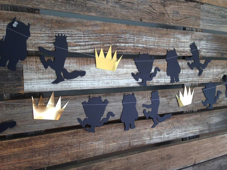 WHERE THE WILD THINGS ARE INSPIRED GARLAND, WILD ONE GARLAND, BIRTHDAY DECOR, BABY SHOWER, PHOTO PROP, FIRST BIRTHDAY DECORATIONS