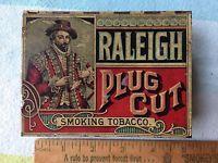 Sir Walter Raleigh Smoking Tobacco Tin Can uNUSUAL Plug Cut