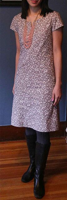 Diplomat Dress lisette pattern. I like this silhouette. It isn't boxy, which makes me look absurd.