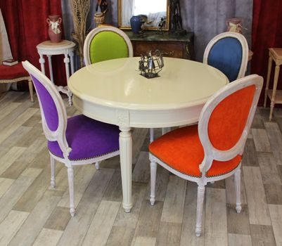 C 39 est exactement l 39 id e d 39 une table avec des chaises que j 39 ai - Chaise medaillon moderne ...