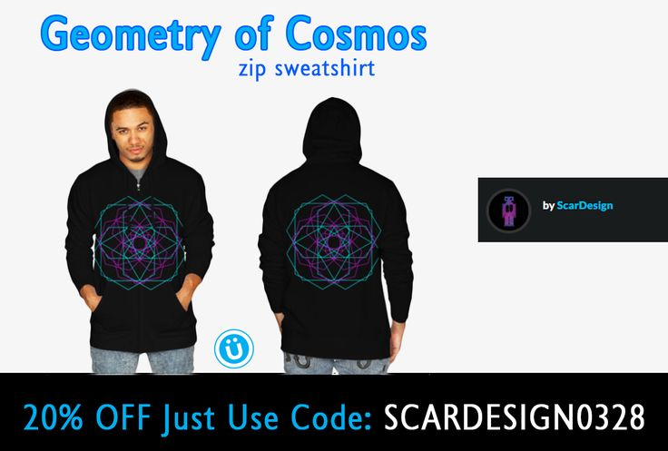 "20% OFF EVERYTHING!!! Use code: SCARDESIGN0328    ""Geometry of Cosmos "" Zip Sweatshirt by Scar Design #geometric #design #tshirt #geometrictshirt #hoodie #ziphoodie #geometriczipsweatshirt #sweatshirt #cooltshirts #buygeometrictshirt #cubic #scardesign #onlineshopping #gifts #geometricgifts #giftsforhim #giftsforher #designbyhumans #geometryofcosmos #cosmos #sacredgeometry"