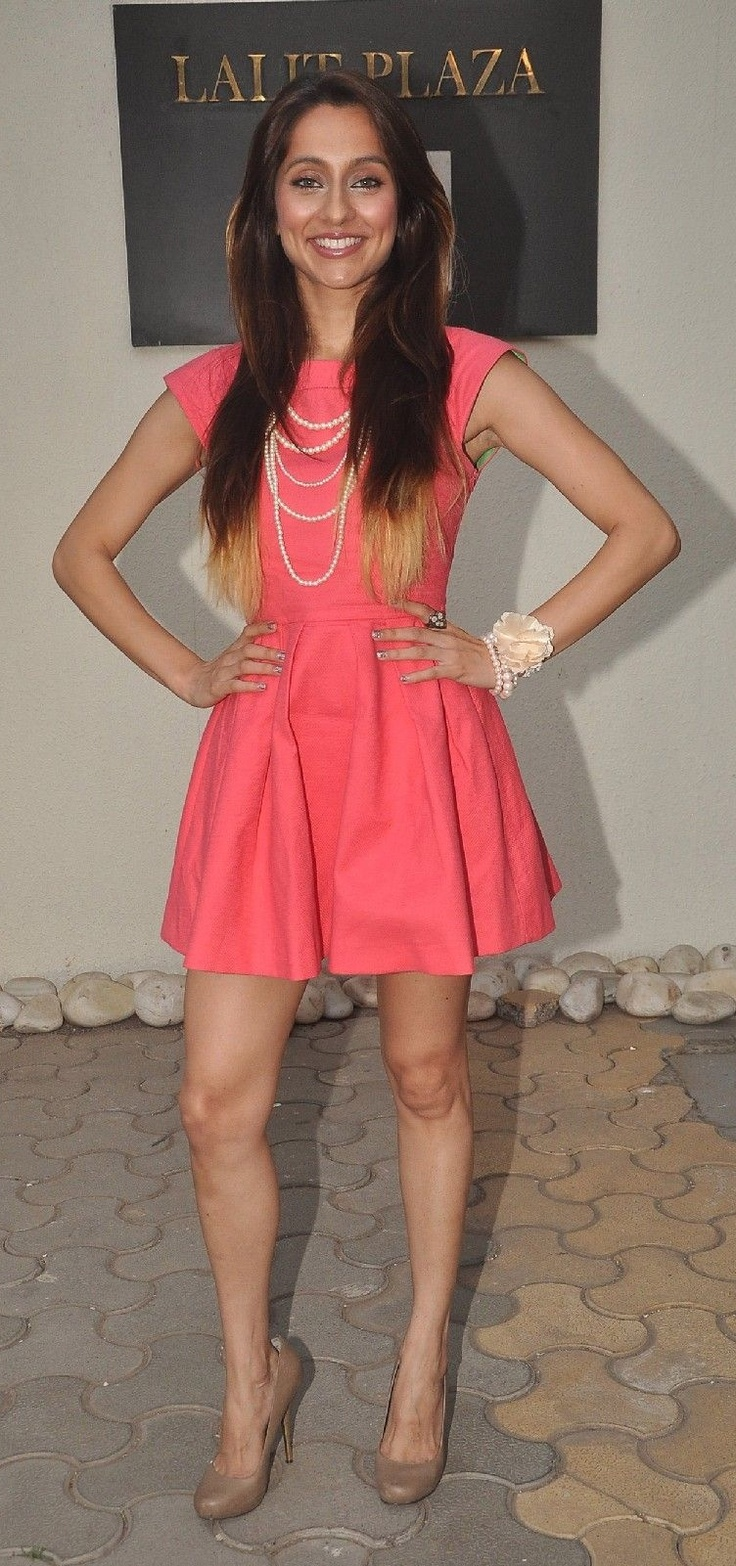 Smart and funky. Anusha Dandekar at an MTV event.