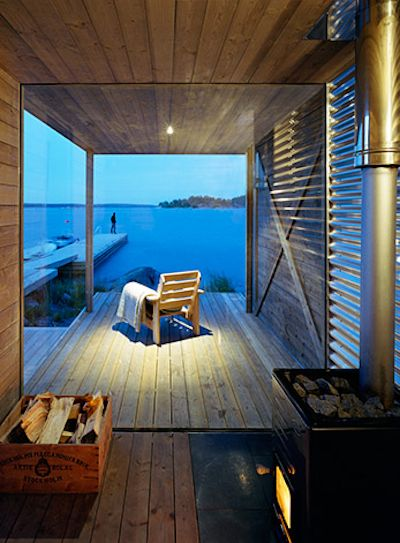 Beautiful view from this sauna...
