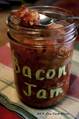 24/7 Low Carb Diner: Bacon Jam-- Diner Style.  Visit us for more of the Best of the Best! https://www.facebook.com/LowCarbHitParade